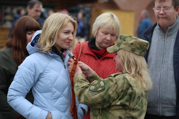 В Туле сотрудники Росгвардии приняли участие в акции «Георгиевская лента»